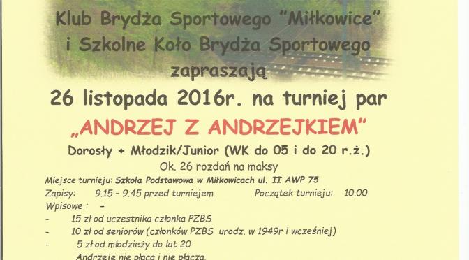 Turniej Andrzej z Andrzejkiem